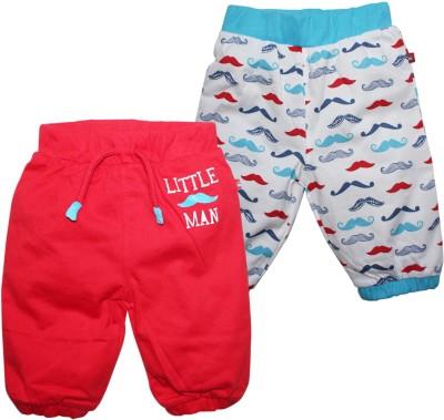 FS Mini Klub Core PO2 Solid, Printed Baby Boy,s Red Track Pants