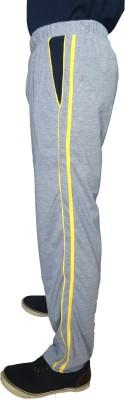 Fizzique Solid Men's Silver Track Pants