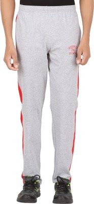 Greenwich Solid Men's Silver Track Pants