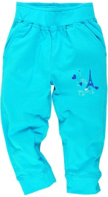 Oye Printed Girl's Blue Track Pants