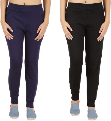 Notyetbyus Solid Women's Black, Dark Blue Track Pants