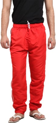 X-Cross Solid Men's Red Track Pants