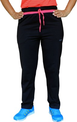 Pepe Rosso Solid Women's Black Track Pants
