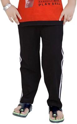 Mint Solid Boy's Black Track Pants