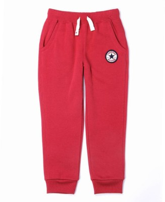 Converse Solid Boy's Red Track Pants