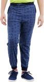 Fizzi Printed Men's Blue Track Pants