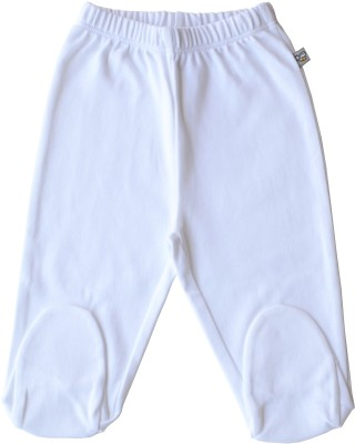 Babeez World Pants Solid Baby Boy's White Track Pants
