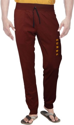 Clickroo Solid Men's Maroon Track Pants