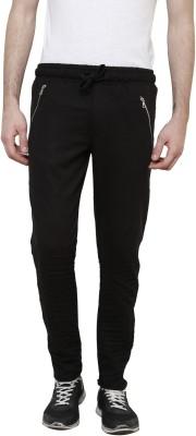 Crux&Hunter Solid Men's Black Track Pants