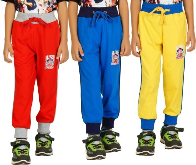 Shaun Solid Men's Red, Light Blue, Yellow Track Pants