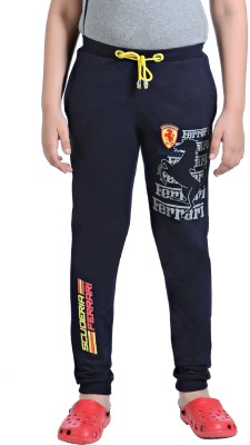 Just4You Printed Boy's Blue Track Pants