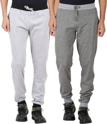 CHECKERSBAY Solid Men's Grey, Grey Track Pants