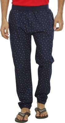 Leg-In Printed Men's Blue Track Pants