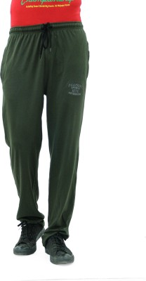 HUMBERT Solid Men's Dark Green Track Pants