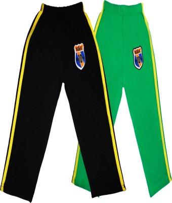 Sweet Angel Printed Boy's Black, Green Track Pants
