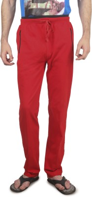 Cayman Fashion Solid Men's Red Track Pants