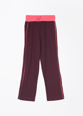 Day 2 Day Solid Girl's Purple Track Pants