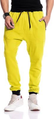 Brohood Solid Men,s Yellow Track Pants