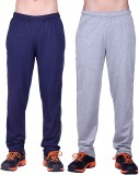 DFH Solid Men's Blue, Grey Track Pants