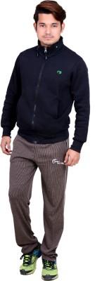 Dev Solid Men's Brown Track Pants
