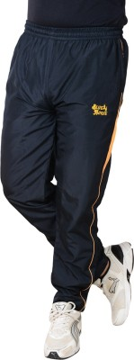 Blue Horse Solid Men's Blue, Yellow Track Pants