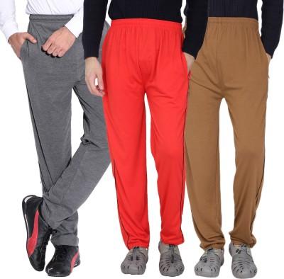 Fizzaro Solid Men's Grey, Red, Brown Track Pants