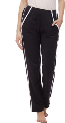 Peptrends Solid Womens Black Track Pants