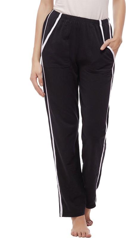 Peptrends Solid Women's Black Track Pants