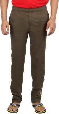 Fizzique Zebra Tape Solid Men's Green Track Pants
