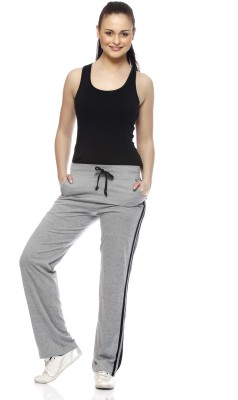 Gritstones Solid Women's Grey, Black Track Pants