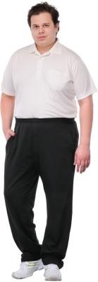 PlusS F Solid Men's Black Track Pants