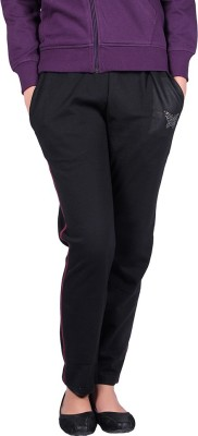 Vivid Bharti 2 Thread Fleece Payjama Solid Women's Black Track Pants at flipkart