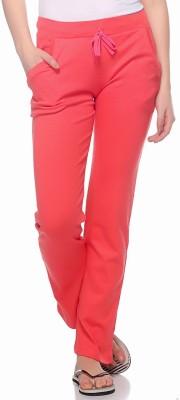 Fasnoya Solid Women's Pink, Orange Track Pants