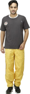 NU9 Solid Men's Yellow Track Pants