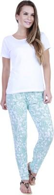 Eshelle Paisley Women's Green, White Track Pants