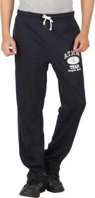 Checker S Bay Solid Men's Dark Blue Track Pants