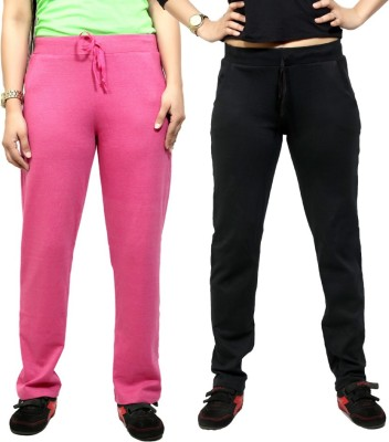 By The Way Solid Women's Purple, Black Track Pants