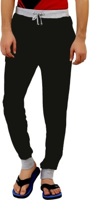 Style Shell Solid Men's Black Track Pants