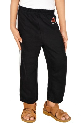 Gkidz Printed Boy,s Black Track Pants