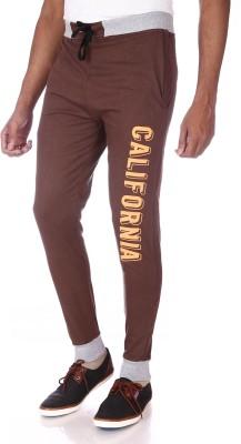 Shootr Solid Men,s Brown Track Pants
