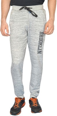 London Eye Self Design Men's Grey Track Pants