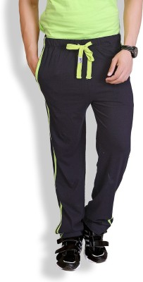 LUCfashion Solid Men's Black, Green Track Pants