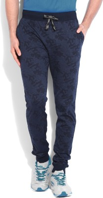 John Players Printed Mens Blue Track Pants