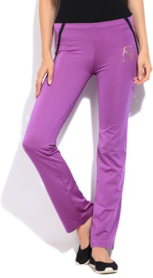 STYLE QUOTIENT BY NOI Solid Women's Purple Track Pants