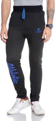 Tab 91 Solid Men's Black Track Pants
