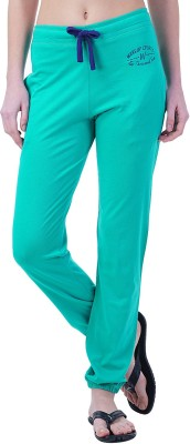 Wake Up Competition Solid Women's Dark Green Track Pants