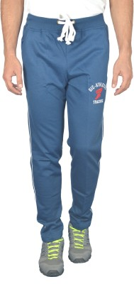 Griffel Solid Men's Light Blue Track Pants