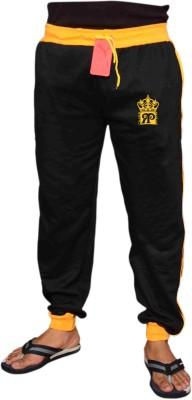 Royal Premium Self Design Boy's Black, Yellow Track Pants