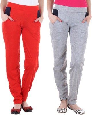 Coaster Solid Women's Red, Grey Track Pants