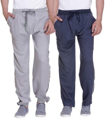 Grand Bear Striped Men's Grey, Blue Track Pants